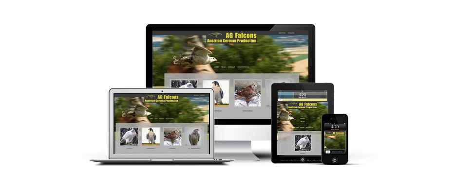 Austrian German Falcons (AG Falcons) Webseite